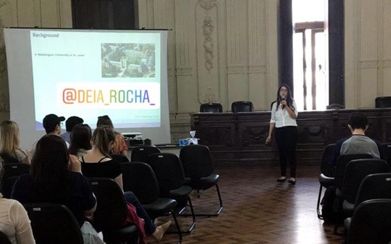 Andréia Rocha, Talk at XII Semana Acadêmica Biomedicina UFRGS
