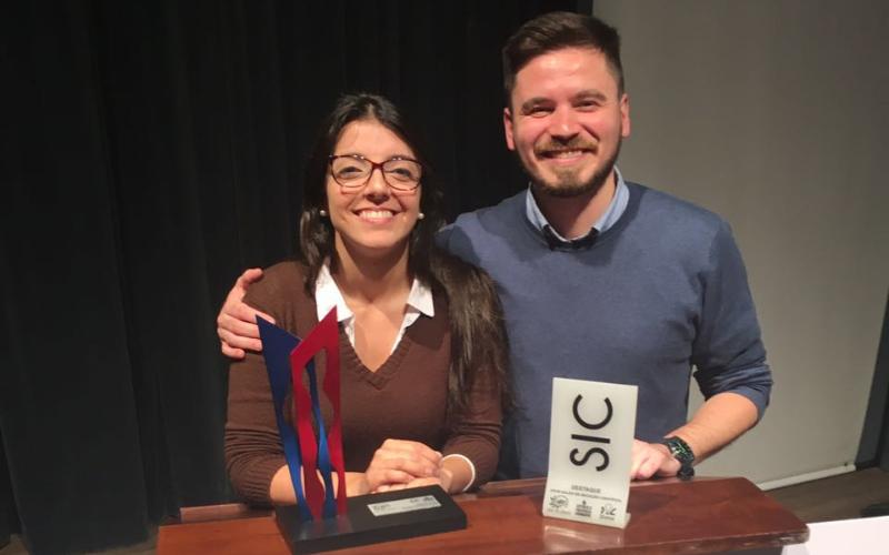 Andréia Rocha, Oral presentation at the XXVII Salão de Iniciação Científica UFRGS